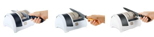 Elektrischer Messerschärfer - Schleifphasen